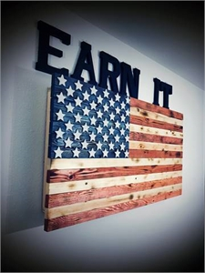 American Flag Concealed Gun Cabinets