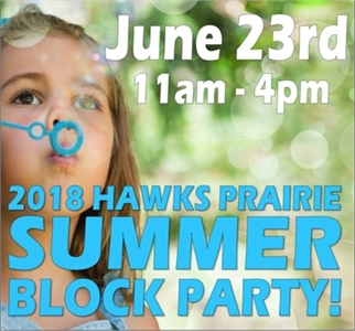 JUNE 23rd -  Hawks Prairie Summer Block Party at Black Hills Gymnastics